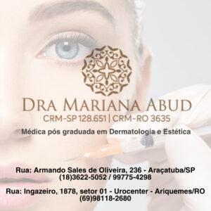 Dra Mariana Abud dermatologia e estética Araçatuba